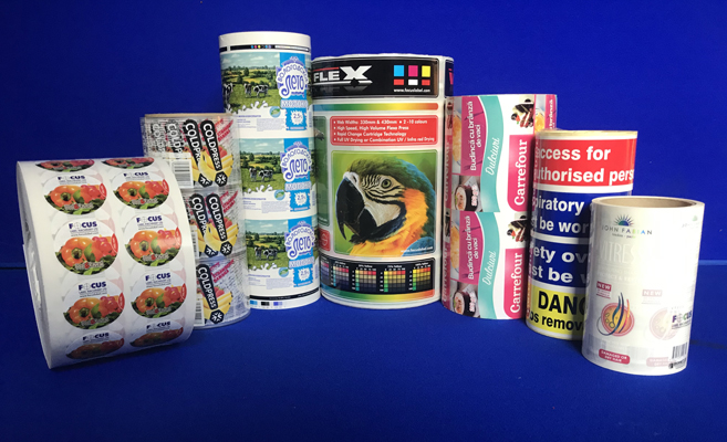 rolls of printed self adhesive labels